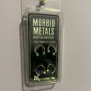 NWT Morbid Metals Synthetic Opal Horseshoes